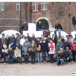 Me and my friends in a tour group in Amsterdam.