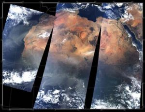NASA's Earth monitoring satellites greatly assist with tracking and predicting major climate events, such as this dust storm blowing across Northern Africa. (2)