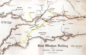 A Map of the Great Western Railway Connecting Bristol and London